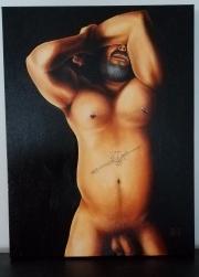 """""""Iapetus."""" Oil on canvas, 18x24"""