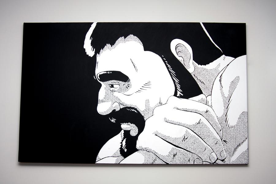 "Black | Acrylic on Canvas | 30"" x 48"""
