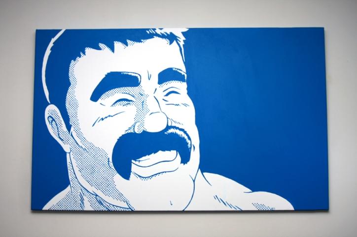 "Cyan | Acrylic on Canvas | 30"" x 48"""