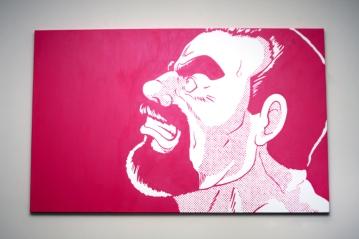"Magenta | Acrylic on Canvas | 30"" x 48"""