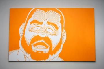 "Yellow | Acrylic on Canvas | 30"" x 48"""